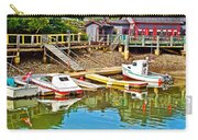 Boats In Halls Harbour-nova Scotia  Carry-all Pouch