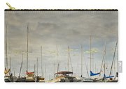 Boats In Harbor Reflection Carry-all Pouch