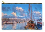 Boats In The Harbor Of Barcelona Carry-all Pouch