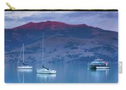 Boats In The Ocean At Dusk, Akaroa Carry-all Pouch