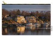 Boats Moored At Harbor During Dusk Carry-all Pouch