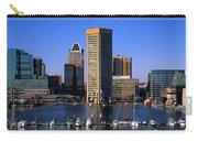 Boats Moored At Inner Harbor Viewed Carry-all Pouch