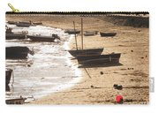 Boats On Beach 02 Carry-all Pouch by Pixel  Chimp