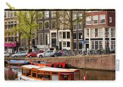 Boats On Canal In Amsterdam Carry-all Pouch