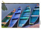 Boats On River Carry-all Pouch