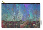 Boats W Painted Abstract Carry-all Pouch