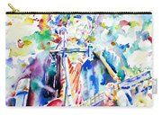 Bob Dylan Playing The Guitar - Watercolor Portrait.1 Carry-all Pouch