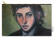 Bob Dylan Portrait In Colored Pencil  Carry-all Pouch