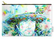 Bob Dylan - Watercolor Portrait.2 Carry-all Pouch
