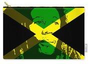 Bob Marley On Jamaican Flag Carry-all Pouch