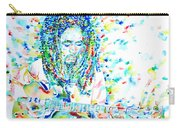 Bob Marley Playing The Guitar - Watercolor Portarit Carry-all Pouch