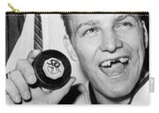 Bobby Hull Scores 50th Goal Carry-all Pouch by Underwood Archives