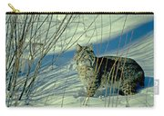 Bobcat In Snow Carry-all Pouch