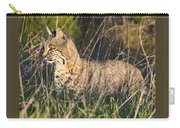Bobcat In The Grass Carry-all Pouch