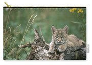 Bobcat Kitten Resting On A Log Idaho Carry-all Pouch