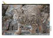 Bobcat On Rock Carry-all Pouch
