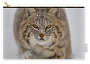 Bobcat Running Forward Carry-all Pouch by Jerry Fornarotto