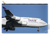 Boeing 747-400 Of Thai International Carry-all Pouch