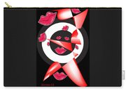 Bogie Lips Lady Red Black White Expressions   Carry-all Pouch