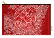 Bogota Street Map - Bogota Colombia Road Map Art On Color Carry-all Pouch