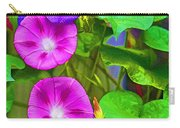 Bohemian Garden Morning Glory Carry-all Pouch