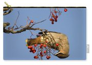 Bohemian Waxwing Eating Rowan Berries Carry-all Pouch