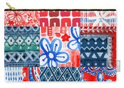 Boho Americana- Patchwork Painting Carry-all Pouch by Linda Woods