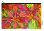Bold And Beautiful Daylilies Carry-all Pouch