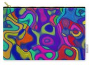 Bold Blue Abstract Decor Carry-all Pouch