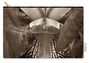Bold Iris Sepia Carry-all Pouch
