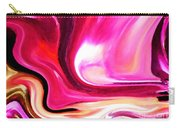Bold Pink Abstract Carry-all Pouch