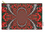 Tulips Kaleidoscope - Red And Green Carry-all Pouch