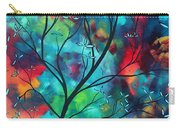 Bold Rich Colorful Landscape Painting Original Art Colored Inspiration By Madart Carry-all Pouch by Megan Duncanson