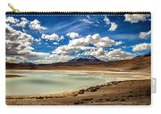 Bolivia Lagoon Clouds Framed Carry-all Pouch