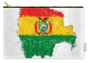 Bolivia Painted Flag Map Carry-all Pouch