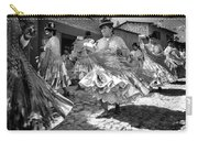 Bolivian Dance Framed Black And White Carry-all Pouch