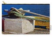 Bollard Closeup - Ropes - Mooring Lines - Wharf Carry-all Pouch