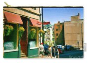 Bonaparte 4 Star Classic French Resto Vieux Montreal Paris Style Bistro Paintings Carole Spandau Art Carry-all Pouch