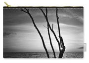 Bonita Beach Tree Black And White Carry-all Pouch