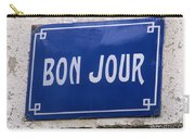 Bonjour French Street Sign Carry-all Pouch