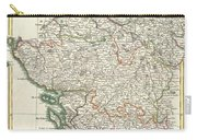 Bonne Map Of Poitou Touraine And Anjou France Carry-all Pouch