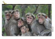 Bonnet Macaques Huddling Western Ghats Carry-all Pouch