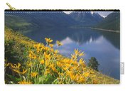 M-05921-bonneville Mountain Reflected In Wallow Lake Carry-all Pouch