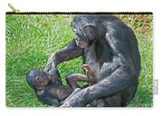 Bonobo Adult Playing With Baby Carry-all Pouch