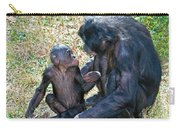 Bonobo Adult Talking To Juvenile Carry-all Pouch