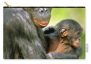Bonobo Pan Paniscus Mother And Infant Carry-all Pouch