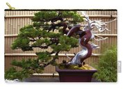 Bonsai Tree And Bamboo Fence Carry-all Pouch by Elaine Plesser