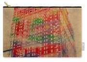 Book Cadillac Iconic Buildings Of Detroit Watercolor On Worn Canvas Series Number 3 Carry-all Pouch by Design Turnpike