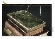 Books With Glasses Carry-all Pouch by Joana Kruse