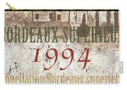 Bordeaux Blanc Label 2 Carry-all Pouch by Debbie DeWitt
